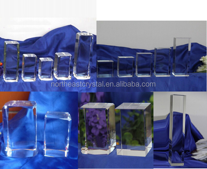 Pujiang Factory Wholesale 3D Laser Engraved Glass Cube
