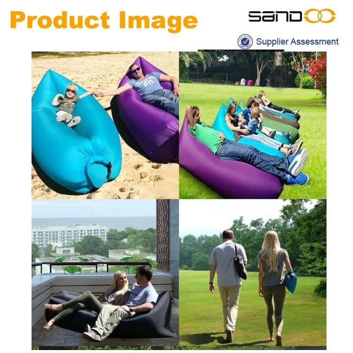 Alibaba china air dormir preguiçoso sofá do saco de feijão, flutuante à prova d' água ao ar livre saco de feijão de praia