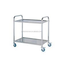 Stainless Steel 2 Tier Service Trolley /Restaurant Service Trolley
