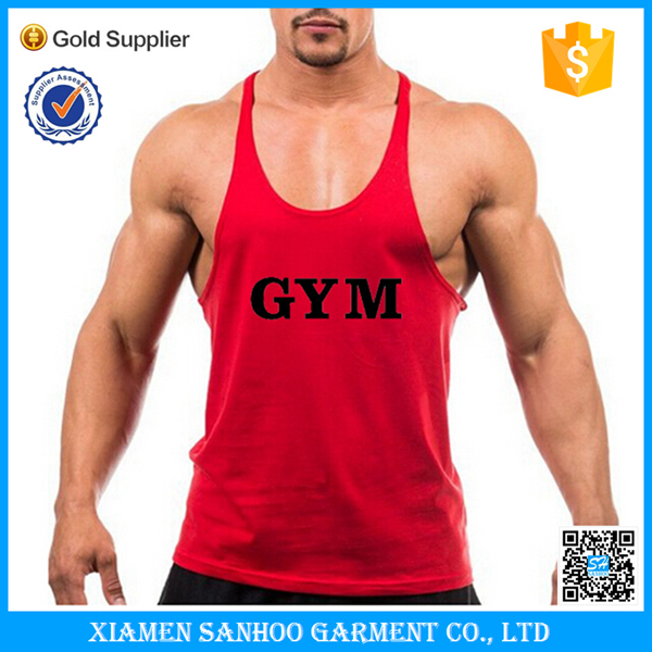 Wholesale Mens Plain Stringer Bulk Tank Top Fitness Gym Clothing OEM