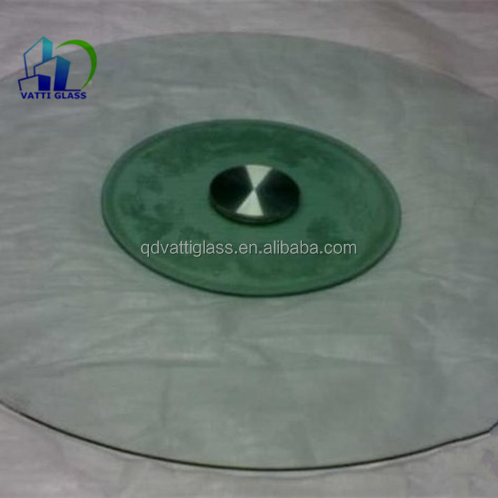 Tempered glass top round dining table Toughened glass top center table