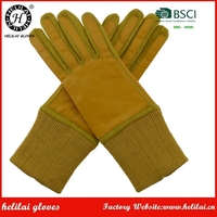 Helilai 2016 yellow wool palm gloves E- touch ladies warm winter gloves