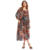 ladies simple chiffon floral print long sleeve new model fashion girls long frocks maxi dress