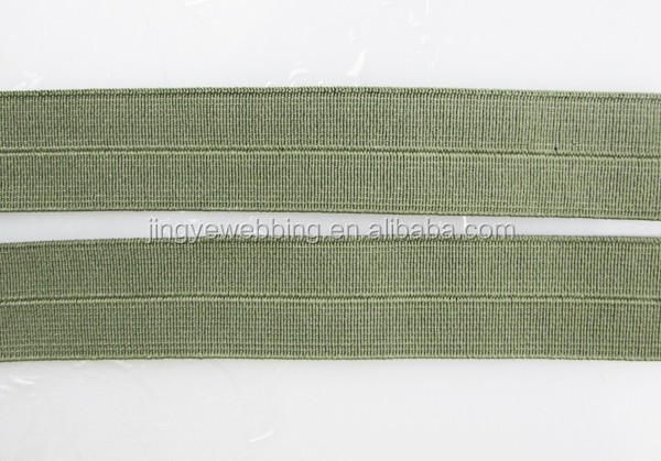 Alibaba wholesale Custom fold over elastic polyester webbing