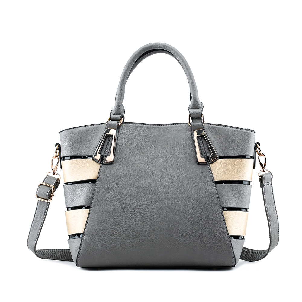 New style of women's real leather shoulderbag with short handle tote bag
