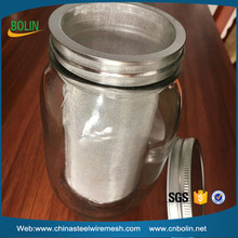 100 150 micron stainless steel mesh cold brew coffee strainer / reusable mason jar mesh cylinder