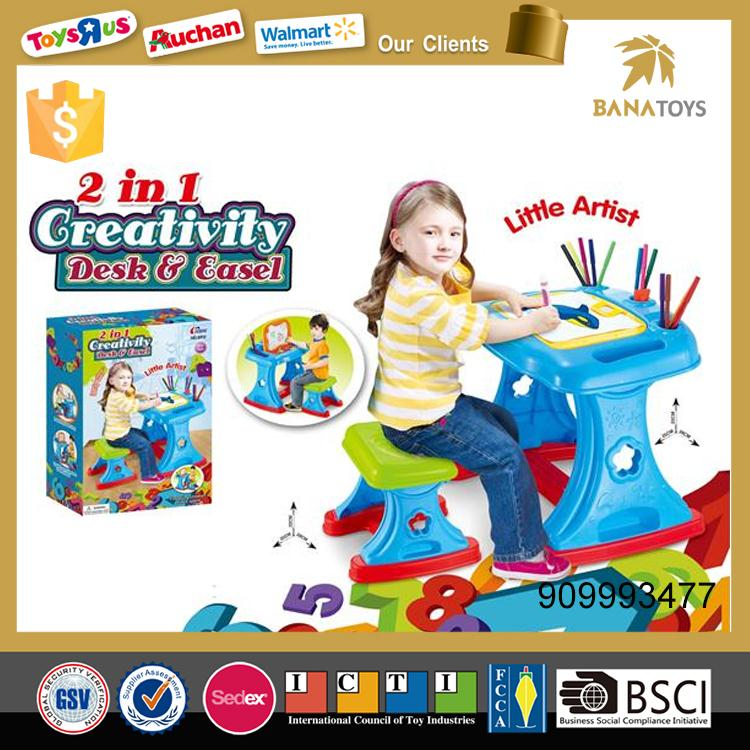 2 IN 1 drawing board and children study table