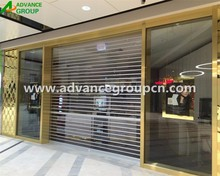 2016 hot sale Stable Elegant commercial shop front polycarbonate transparent roller shutter door / transparent coiling door