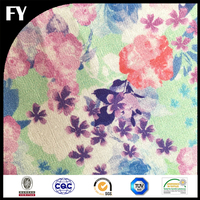 Digital custom printed cotton voile rose embroidery fabric