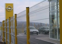 welded wire mesh fence design with galvanized and powder coated