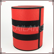 tube shape paper box,cylinder box shape ,red and black colour printing
