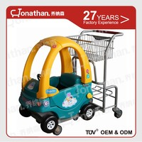 TQC-HR Safety Powder coating shopping trolley toy for kids