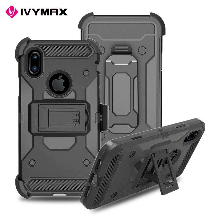China Market Wholesale Cell Phone Case For iphone 8 Case Hybrid Heavy Duty Rugged Armor Cover For iphone 8 Holster Combo Case
