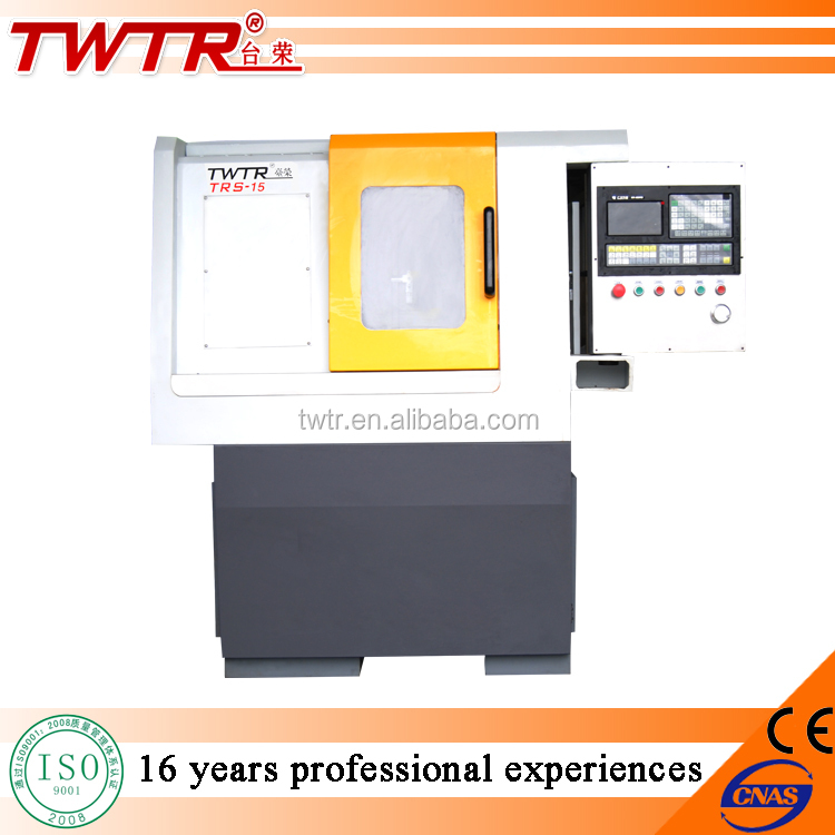 TWTR15A Flat Bed Gang Tool Small CNC Lathe C Axis