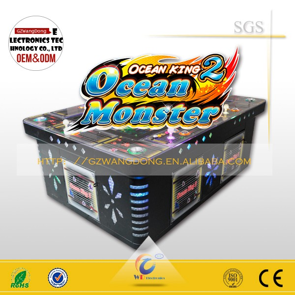 WangDong arcade games machines ocean king 2 Golden legend shooting fish game for casino