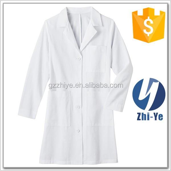 hospital work wear doctor lab coat for female