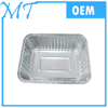 2 compartments disposable aluminum foil food container/lunch box