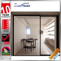 Hot sale impact resistant glazing aluminum 3 panel sliding closet doors