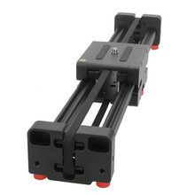 yelanggu Retractable Video Camera Slider L50D Dolly 50cm Track Rail Stabilizer 100cm Actual Sliding Distance Load Up to 5kg