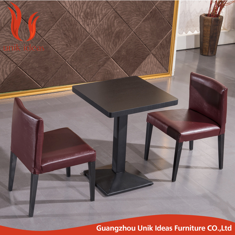 Wholesale upholstery imitation wooden dining chair aluminum navy chair