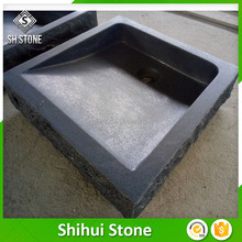 Custom Design Black Granite Stone Black Wash Basin