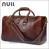 vintage mens italian genuine leather carry on duffle bag