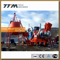 80t/h mobile asphalt equipment, asphalt mixing plant, mobile asphalt plant