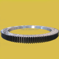 single row four-point contact ball slewing bearing for steel mill crane