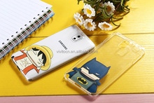 Cute Cartoon image design TPU back case cover for samsung galaxy note 4