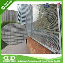 Green Metal Fencing / Welded Steel Fence / Powder Coated Mesh Panels