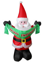 150cm/5ft Inflatable santa holding the ribbon static for christmas decoration