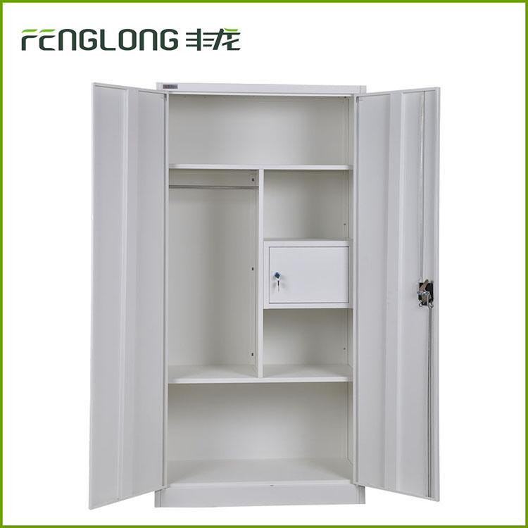 Bedroom Furniture Steel Cloth Cupboard Design Metal Locker Cabinet With Safe Inside Buy