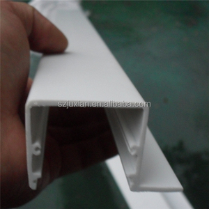 PVC/ABS/PC polycarbonate extruded tube extrude plastic profiles plastic extrusion factory