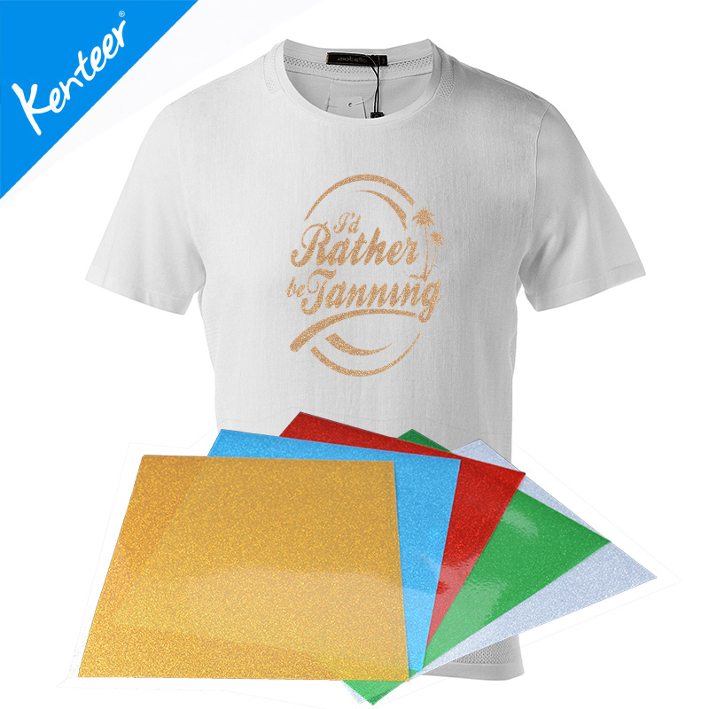 Kenteer wholesale glitter iron on vinyl heat press vinyl