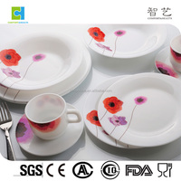High quality heat-resistant 34pcs opal dinner set
