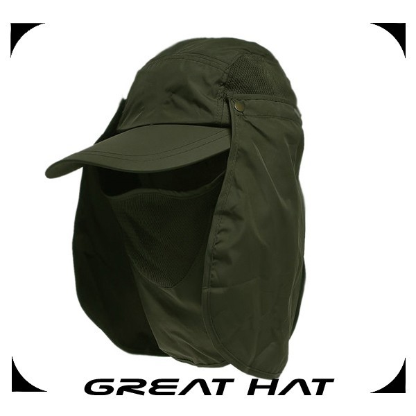 Factory fast delivery hot army neck flap back hat