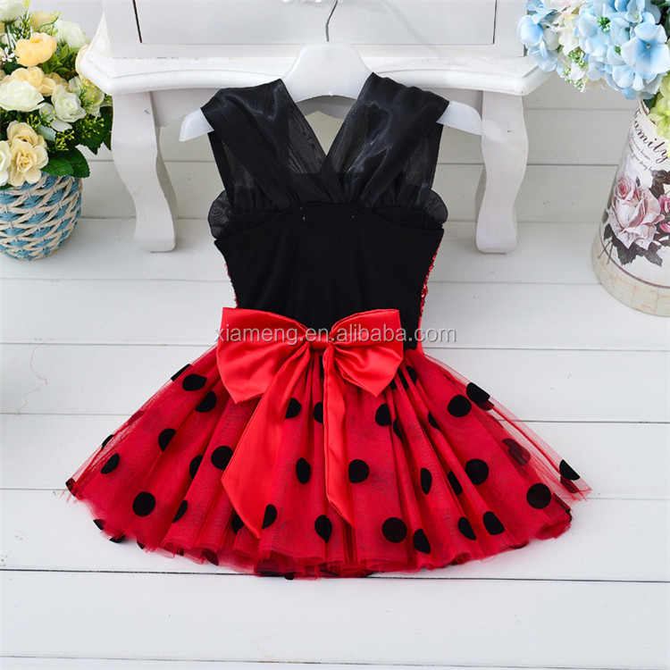 Wholesale Cute Mini Skirt Dot Modern Girls Dresses for Party