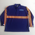 blue long sleeve reflective safety polo shirt