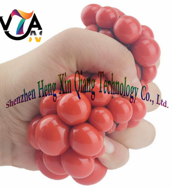 Hand Wrist Mesh Squishy Balls Stress Relief Squeeze Grape Balls
