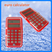 Portable mini two LCD display Euro currency calculator, currency converter calculator