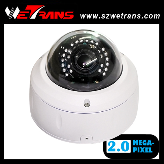 Competitive TR-FIPD121 Vandalproof 20M IR Waterproof Dome Full HD 1080P Dome IP Smart Security Camera