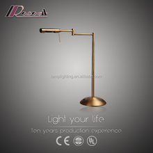 Polished brass adjustable balance arm reading table lamp