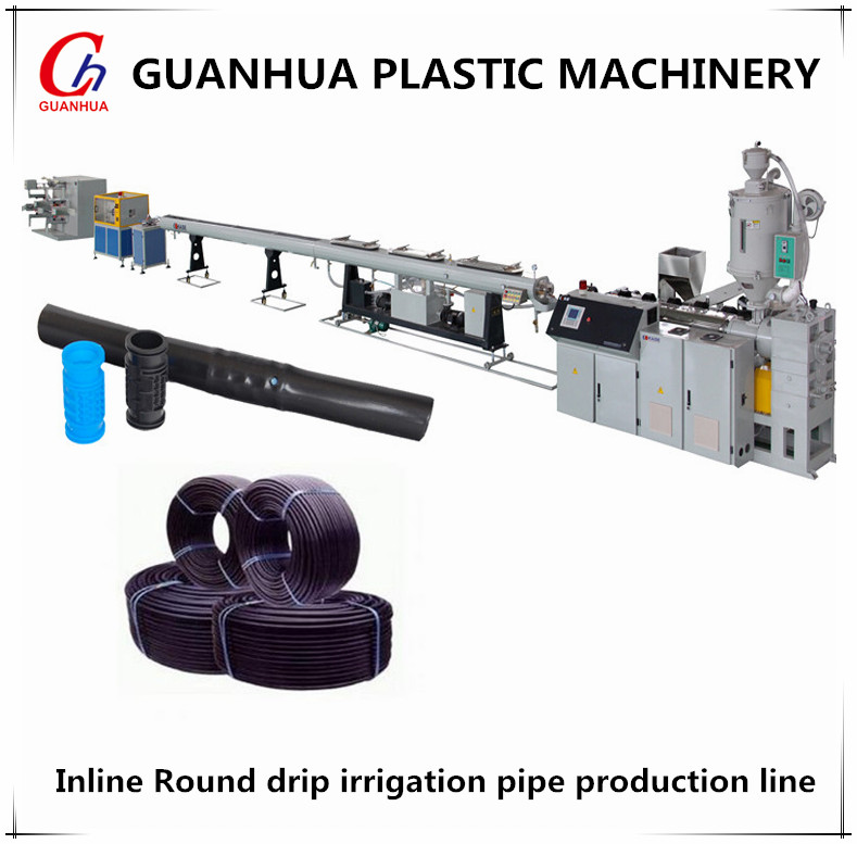 single screw extruding line Inline cylinder emitter drip irrigation tape tube hose pipe machine line