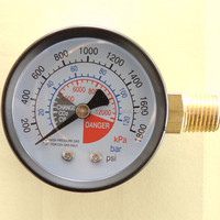 Naite gas pressure gauge,CO2 gauge with right entry