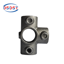5-way key clamp scaffold 176 side outlet tee tube connector handrail pipe fittings