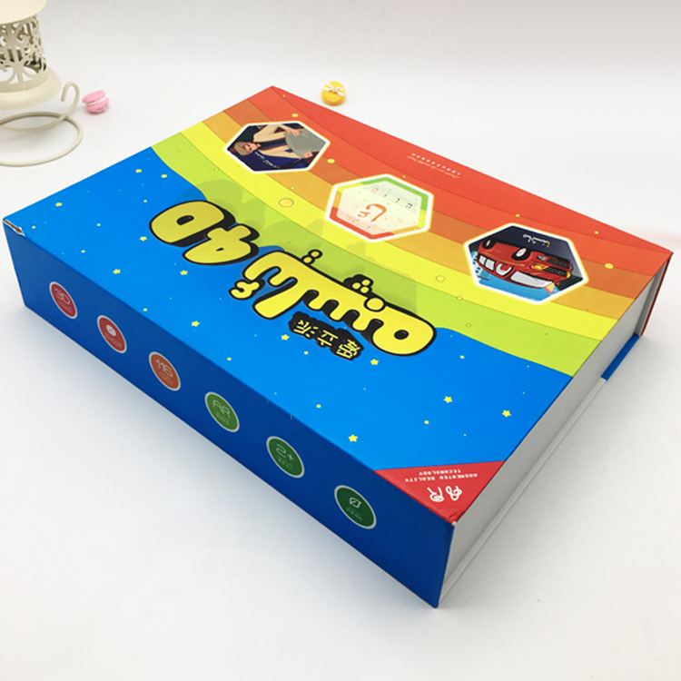 Logo Printed Cardboard Kids Children's Educational Toy Packaging Box with PS White Flocking blister Tray box