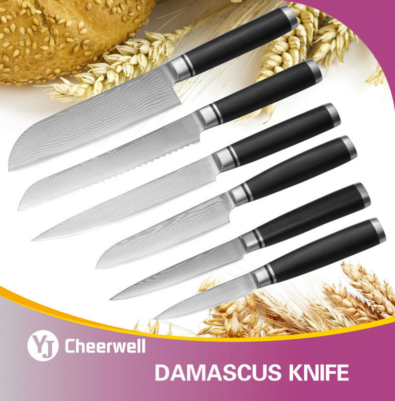 high quality kitchen knife damascus knife buy chef knife high quality kitchen knives set 67 layers japanese vg10