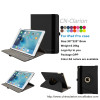 2015 New Products 360 Degree Rotating Flip Stand PU Leather Protective Case For iPad Pro 12.9 inch With Smart Function, Black