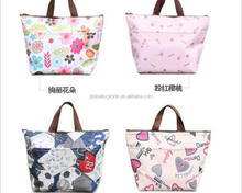 low price printed cotton fabric big beach cooler tote travel bag