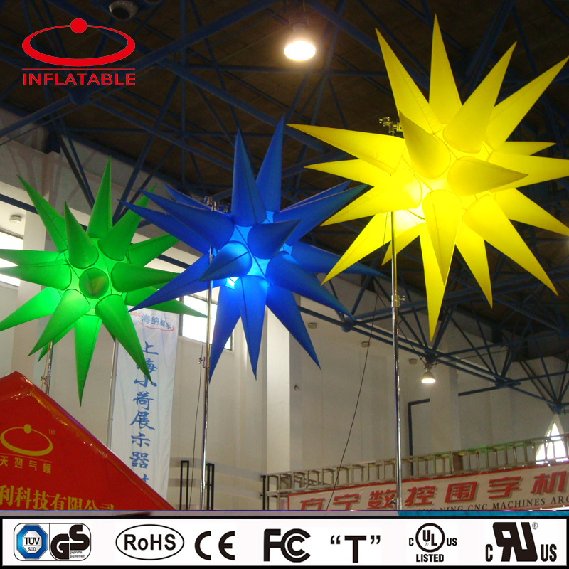 suspended inflatable LED lighting star balloon